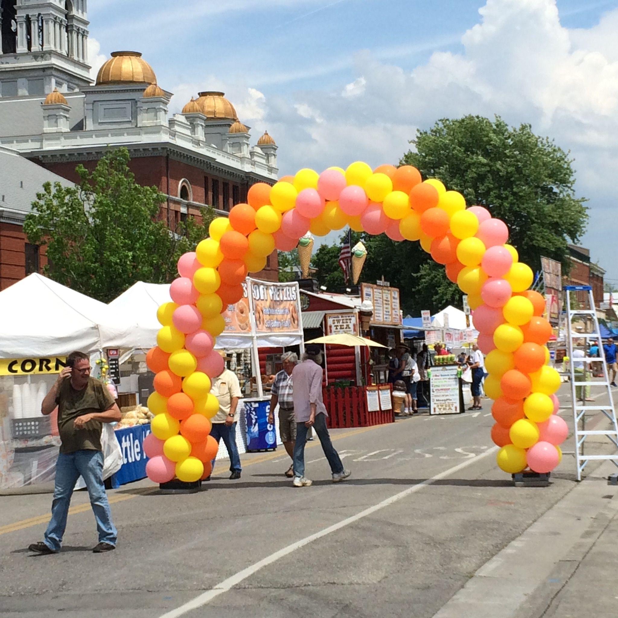 Outdoor Balloon Arch Balloon delivery, Balloons, Balloon
