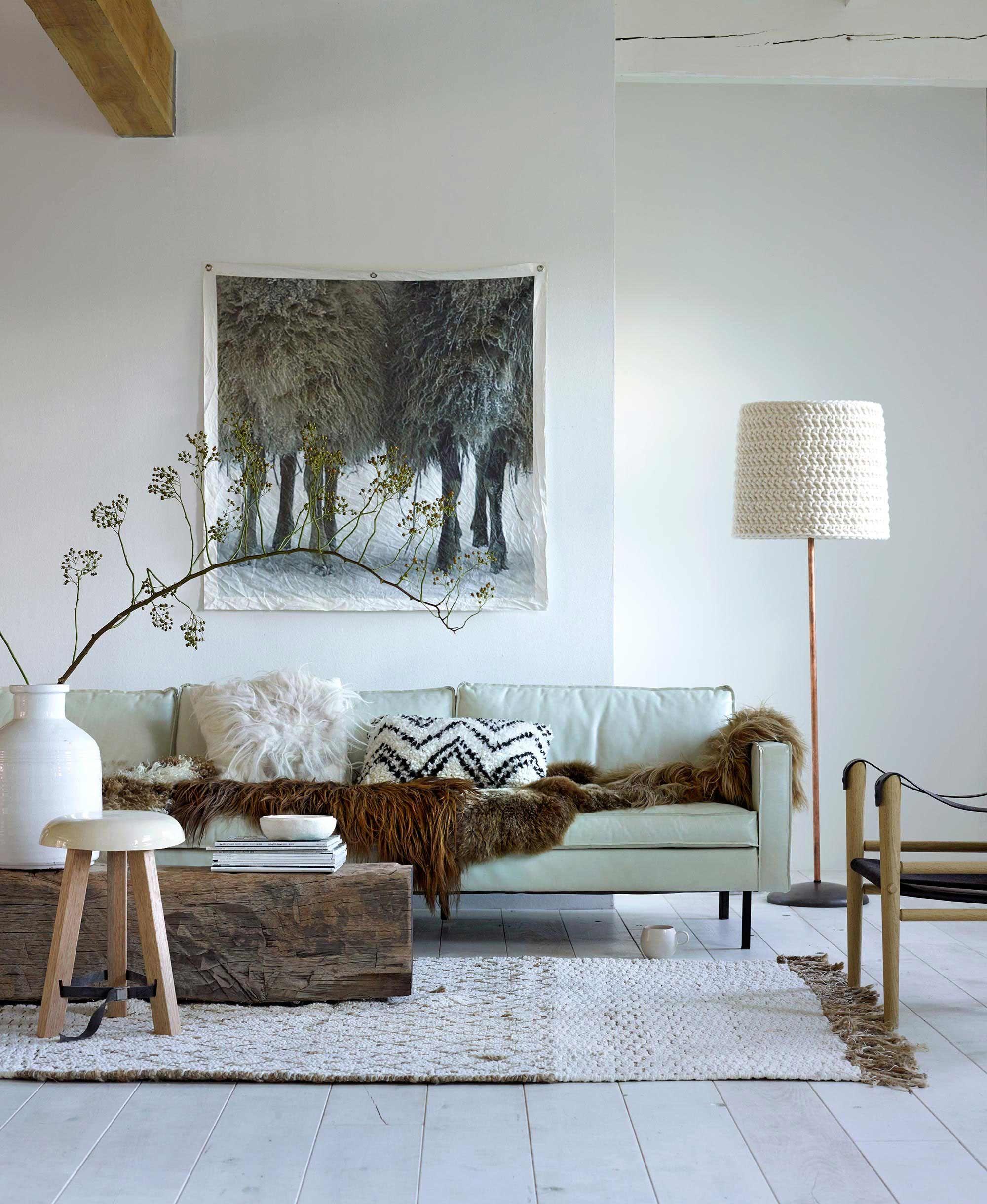 landelijk wonen stijl woonkamer bank | Interior || Styling ...