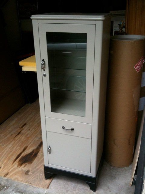 Old Metal Cabinets for Sale | Vintage Steel Medicine cabinet tower - Loading Metal Cabinets Pinterest Cabinet, Medicine Cabinet And