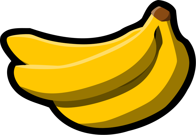 Banana Clipart Black And White clipart - Banana, Cartoon, Drawing,  transparent clip art