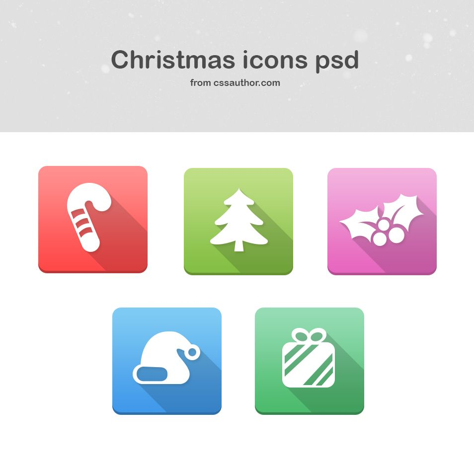 free christmas icons psd› free icons psd » css author | web & free, Powerpoint templates
