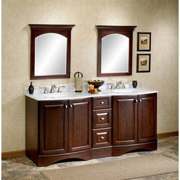 """remarkable curved front bathroom vanity   Fairmont Designs 72"""" Town & Country Curved Front Double ..."""