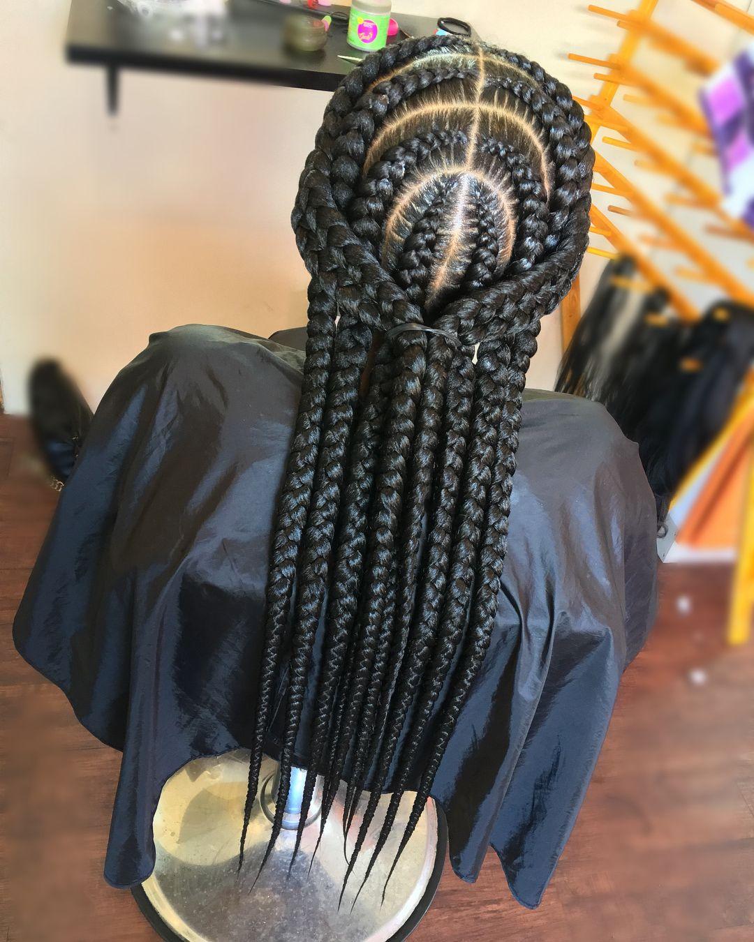 braids by @_braidedbeauty #braids #braid #protectivestyles #braidideas #boxbraids #braid ...