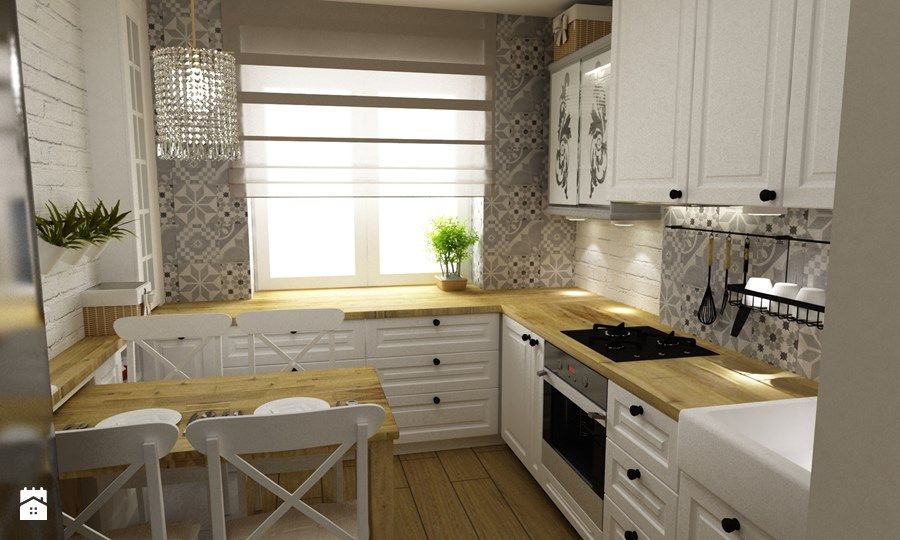 Średnia kuchnia, styl prowansalski  zdjęcie od Grafika i   -> Kuchnia Prowansalska Projekt
