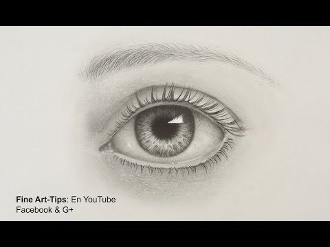 How to draw a realistic eye with pencil drawing tutorial youtube
