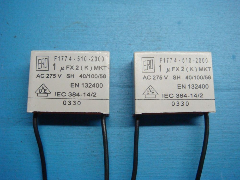 2) VISHAY ERO F1774-510-2000 1uF X2 275V MKT RADIAL SUPPRESSION ...