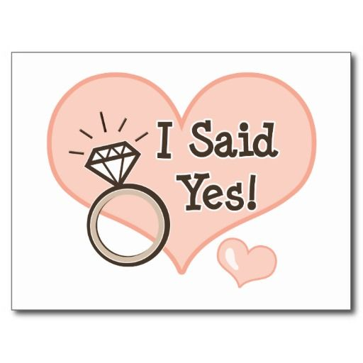 I Said Yes Wedding Announcement Postcard Zazzle Com In 2021 Engagement Quotes Bride To Be Quotes I Said Yes