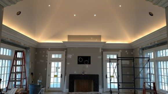 how to install crown molding lighting