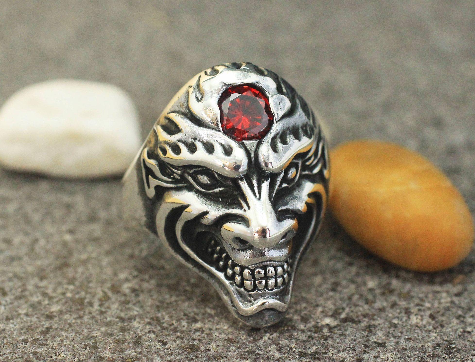Photo of Men's silver ring, sterling silver 925 men's handmade ring, gift for him, men's jew …