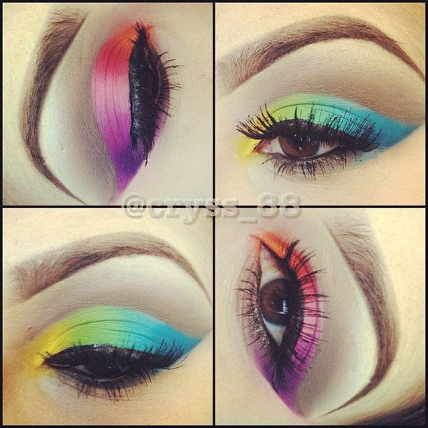 Colorful eye look @cryss_88