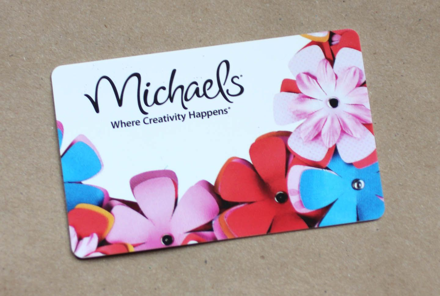Tasha- Michaels Gift Card   When you dont know what to get ...