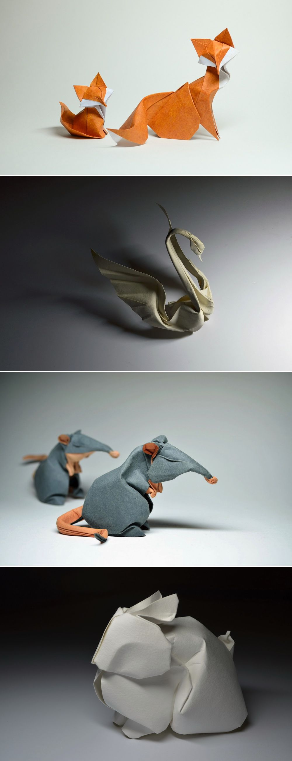 Panel Swans in the technique of paper art on the contest Spring 2016, home decor for their own hands