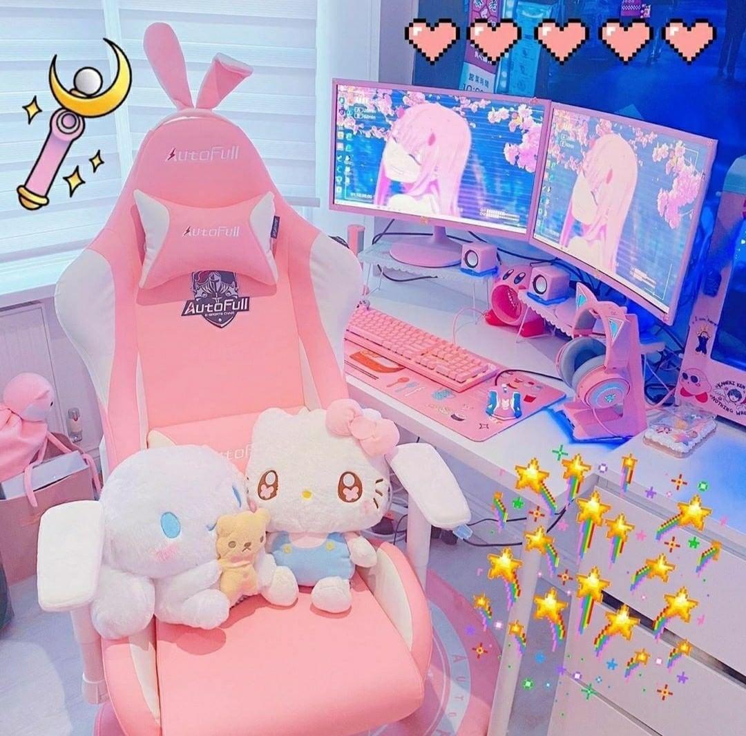 "Kawaii Fantasy ♡🍥 on Instagram ""Beautiful gamer setup"