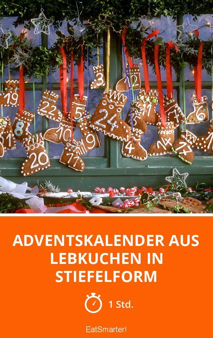 Adventskalender aus Lebkuchen in Stiefelform - smarter - Zeit: 1 Std. | eatsmarter.de