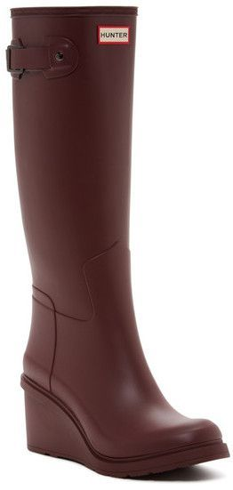 501a0e0f575  130 at Nordstrom Rack!! Hunter Original Refined Wedge Rain Boot.  affiliink