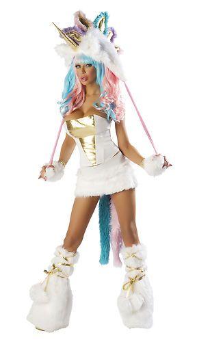 5 Piece Sexy Josie Loves J Valentine Unicorn Costume Complete Set Rave  Outfit