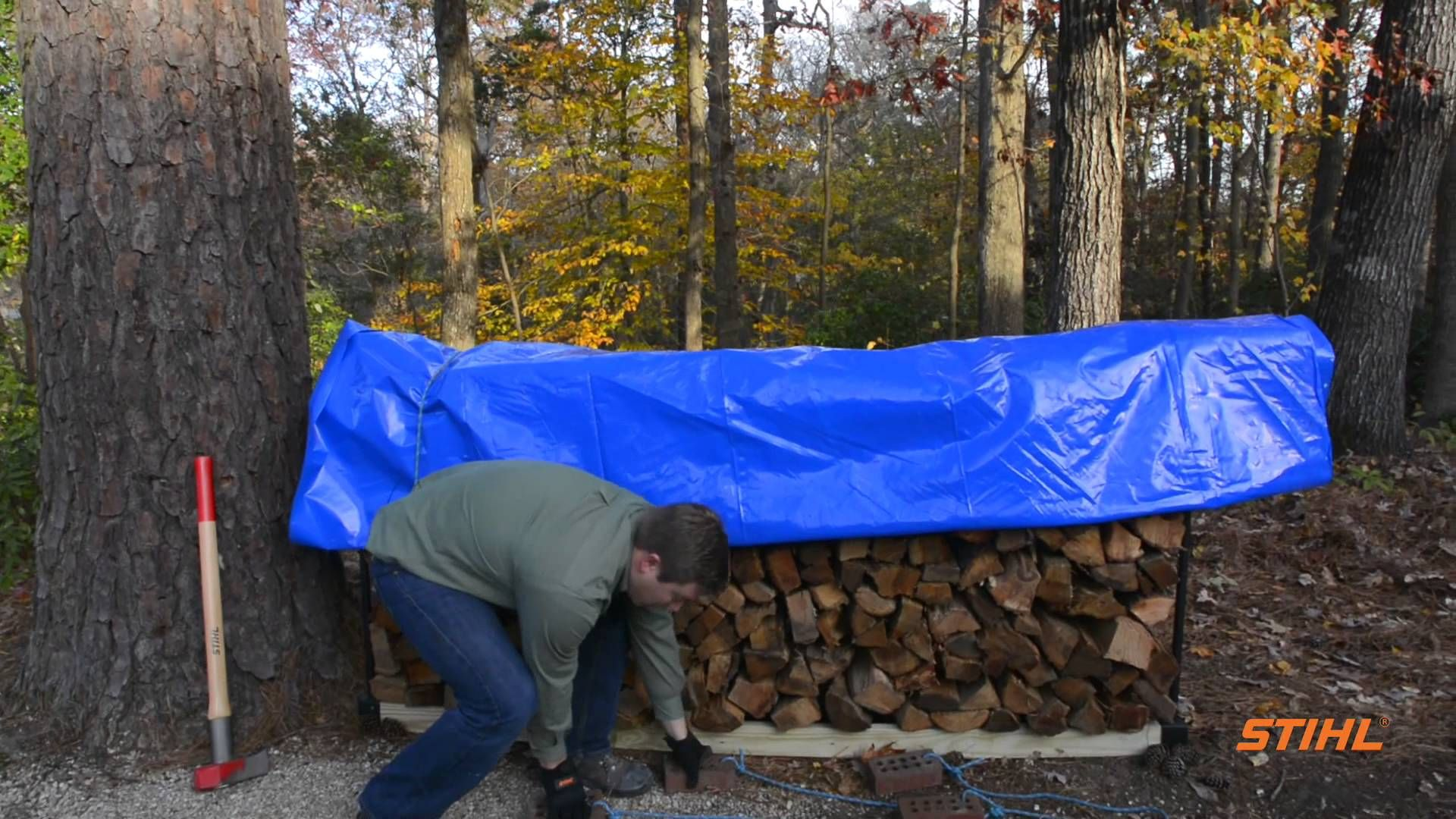 How to properly store firewood easy woodworking diy