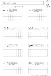 Lernstübchen: Arbeitsblätter zum Teilen mit Rest