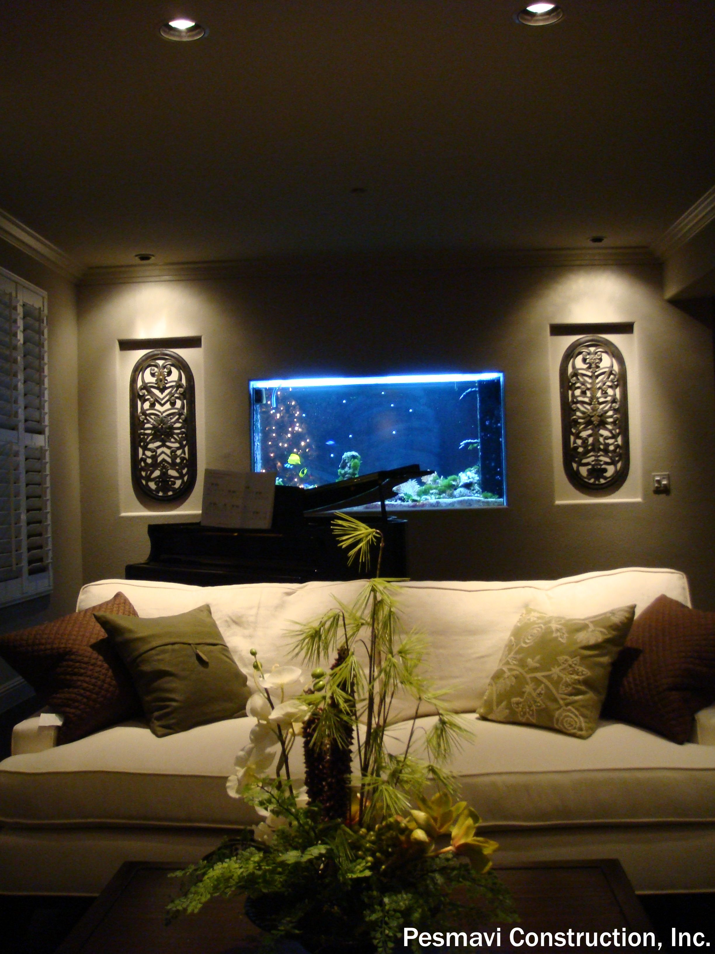 Aquarium Living Room Decor: Interior Design Costs