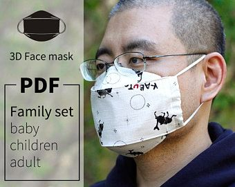 Photo of Protective Mask with Cap/PDF Tutorial/Face Mask/DIY/Dust | Etsy