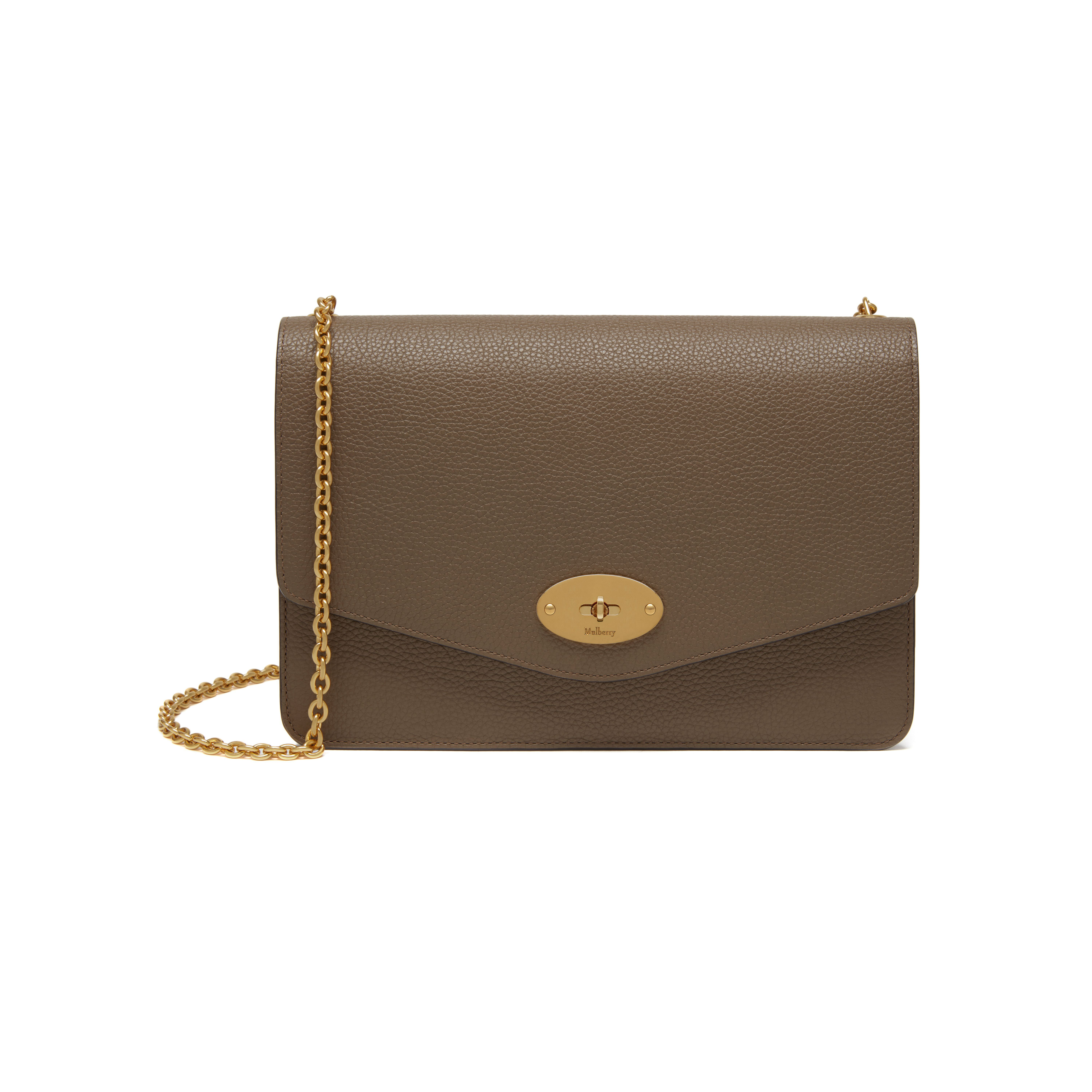 Shop the Darley in Clay Small Classic Grain Leather at Mulberry.com. A  classic clutch d314172ac0028