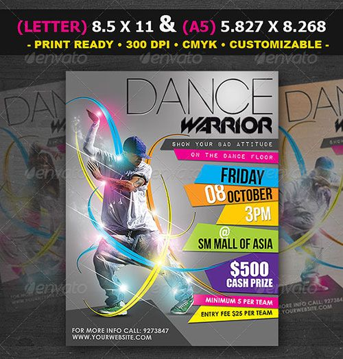 Urban dance party club flyer poster template free club party psd – Competition Flyer Template