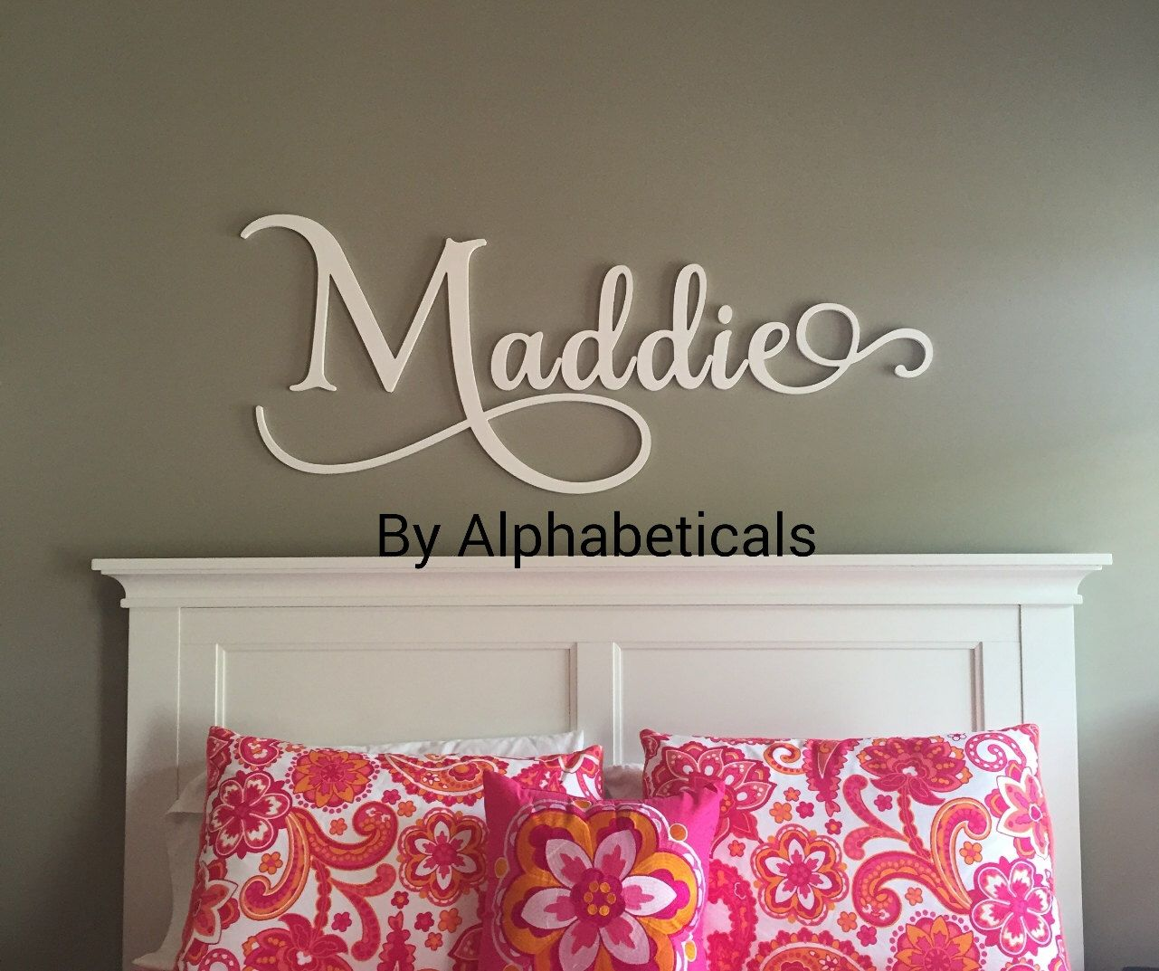 Wooden Letters For Nursery Boy Alphabeticals Name Wall Baby Sign Decor