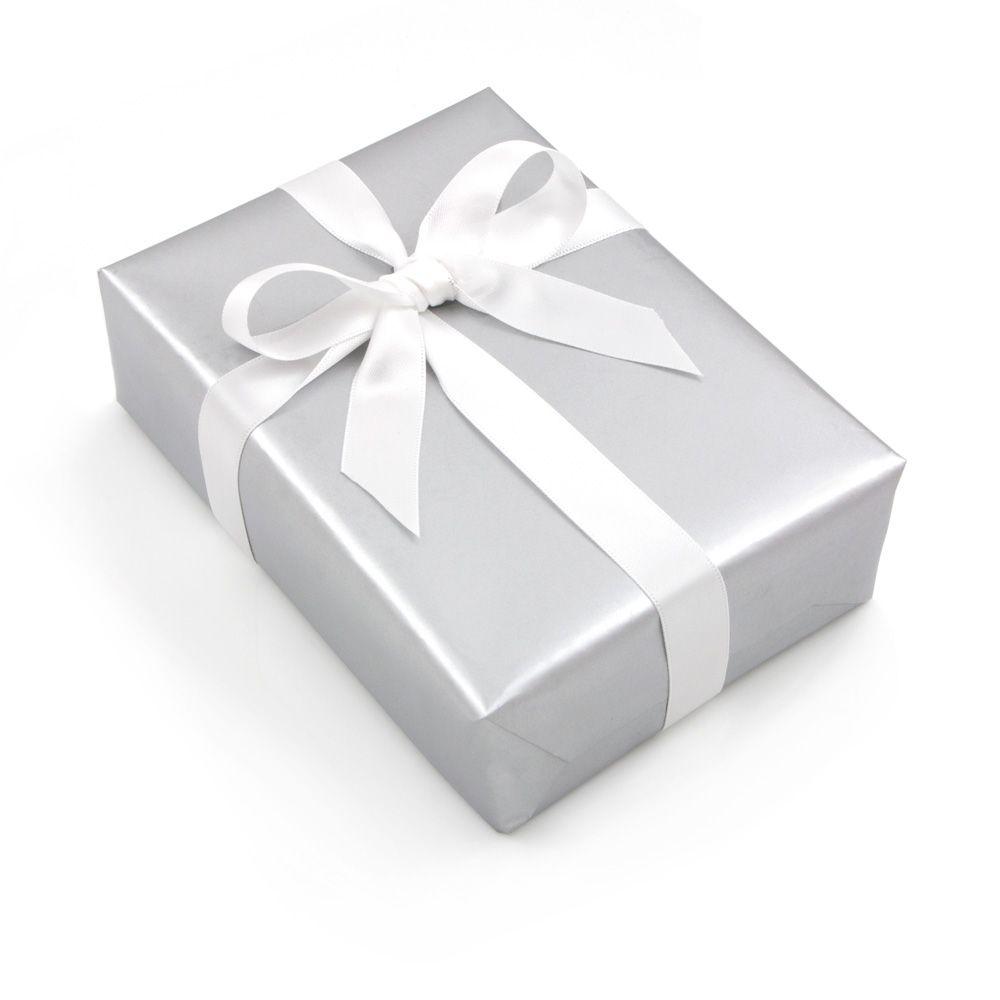 gift-wrapping-silver-white-ribbon.jpg 1,000×1,000 pixels | gift box ...