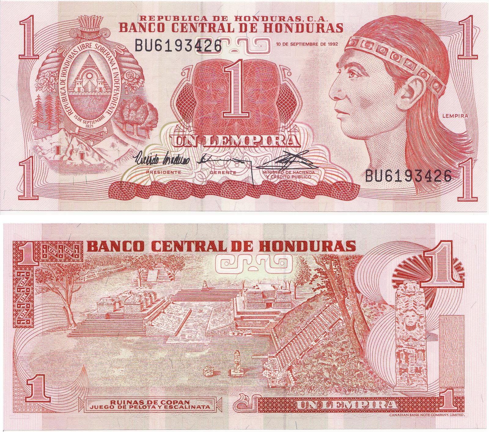 Honduras Billete De 1 00 Lempira