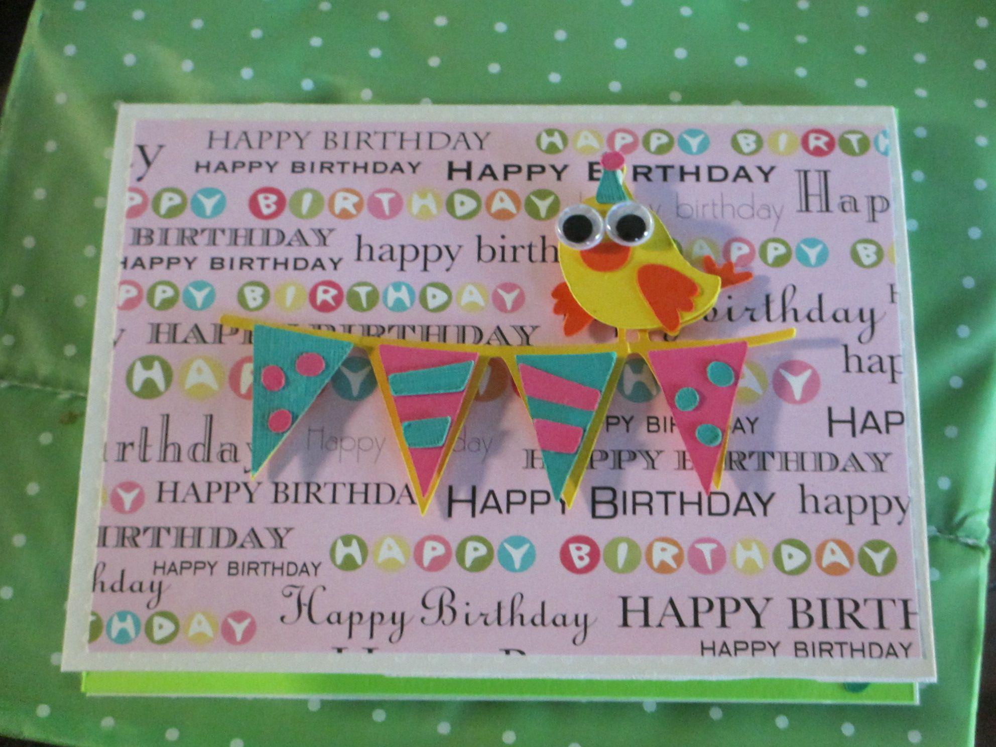 Made This Card Using The Cricut Birthday Bash Cartridge Banner