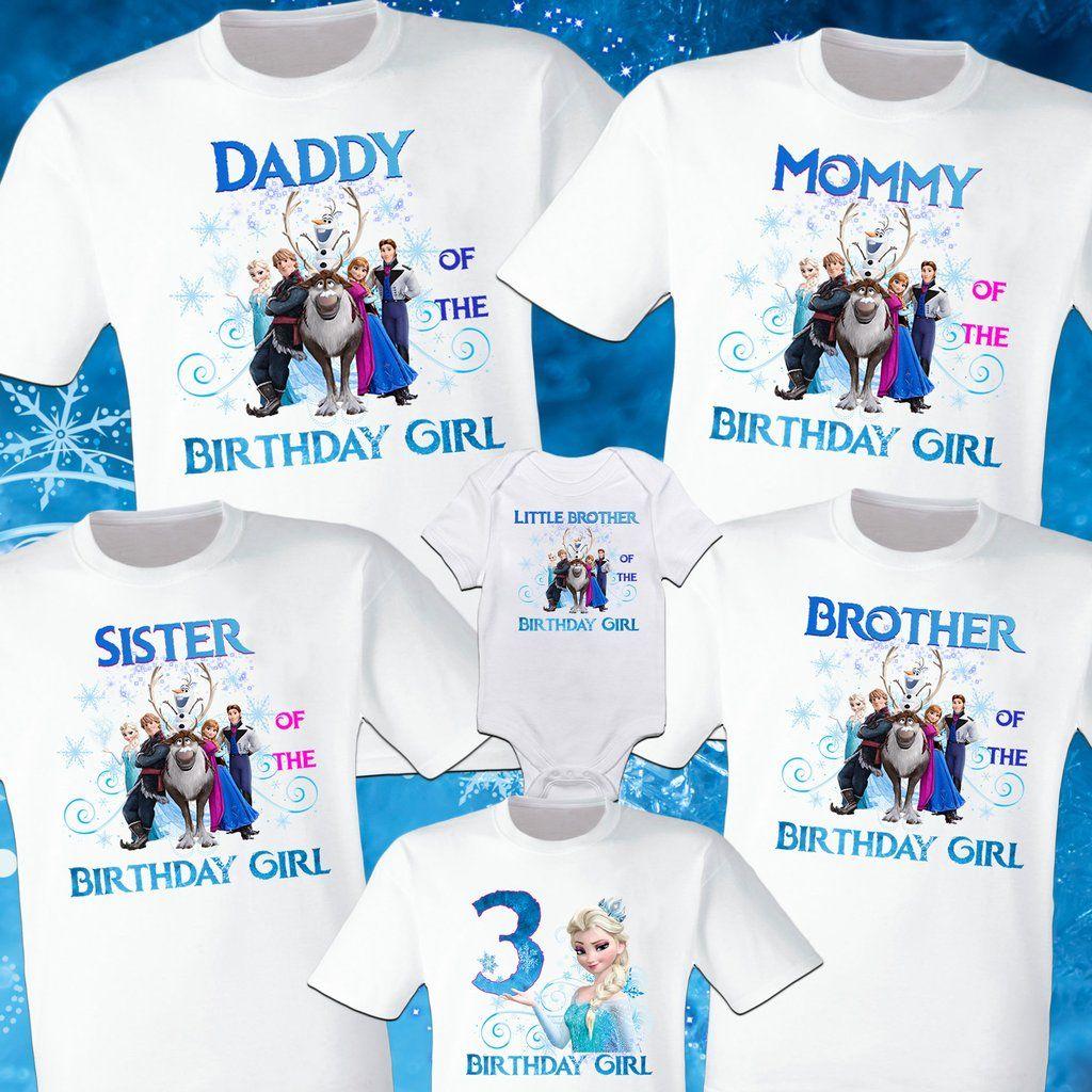 Frozen family shirts in 2020 frozen birthday shirt