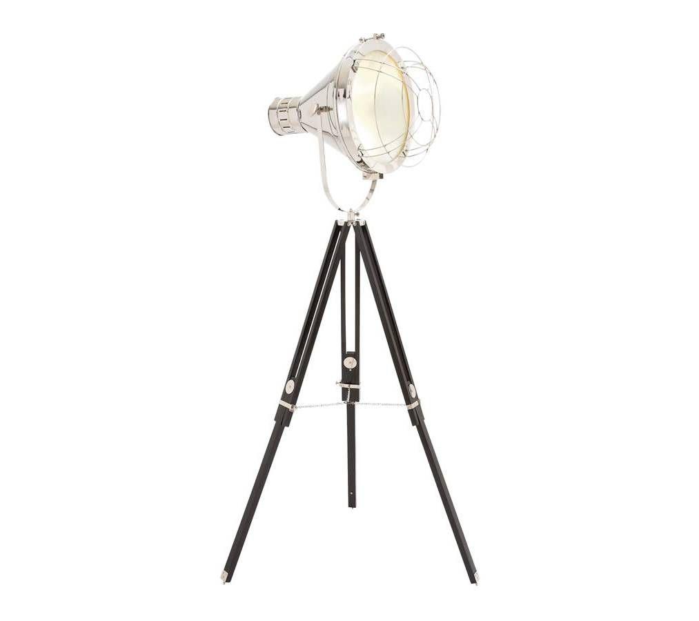 Nickel Tripod Studio Designed Spotlight Floor Lamp With Protective