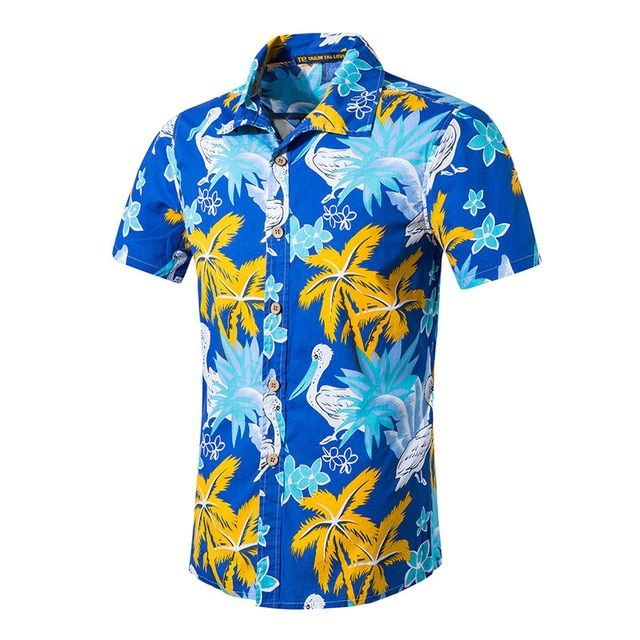 4204e39e12be Mens Hawaiian Shirt Male Casual camisa masculina Printed Beach Shirts Short  Sleeve Summer men clothes 2019 Asian Size 5XL ST55 Review