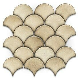 Gbi Tile Stone Inc Allen Roth Glossy Circular Mosaic Ceramic Wall Common X Actual Fish Scales For The Shower