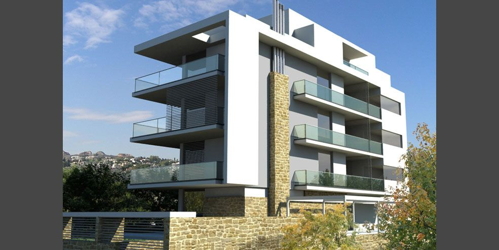 Modern Appartment Building Architecture Akp Architects Chalandri Athens