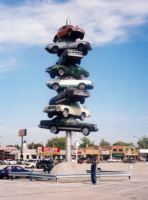 Cars On A Spike Cars Roadside Attractions Attraction Illinois