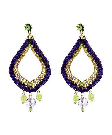 Look what I found on #zulily! Purple Acid Freak Chandelier Earrings Made With SWAROVSKI ELEMENTS #zulilyfinds