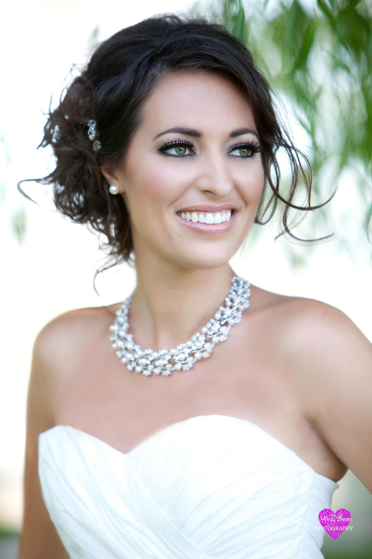 las vegas wedding hair and makeup- smokey eye bridal look #wedding
