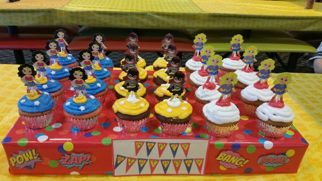 Supergirls inspired cupcakes!! So cute!! Deb's