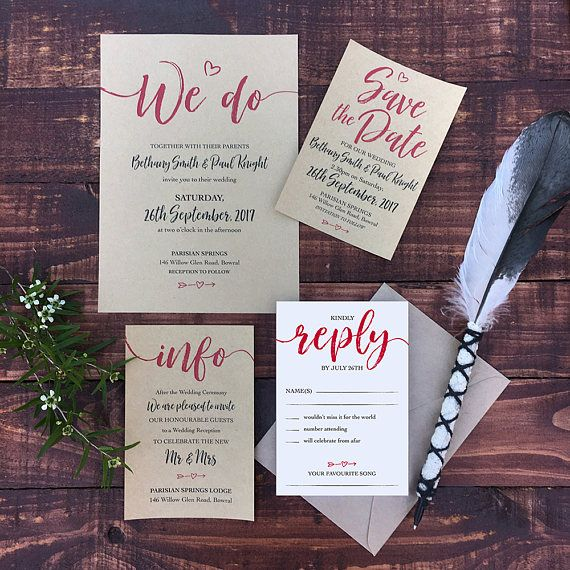 print your own rustic wedding invitations custom designed digital