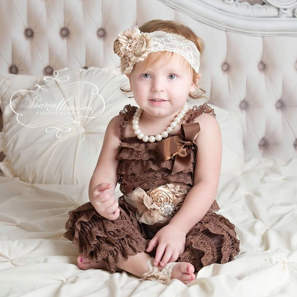 b6faedc4a2ab Chocolate Jumper Chocolate Ruffled Pants Petti Pants Birthday Romper Baby  Romper Cake Smash Outfit 1st Birthday Outfit Baby Girl Romper by ...