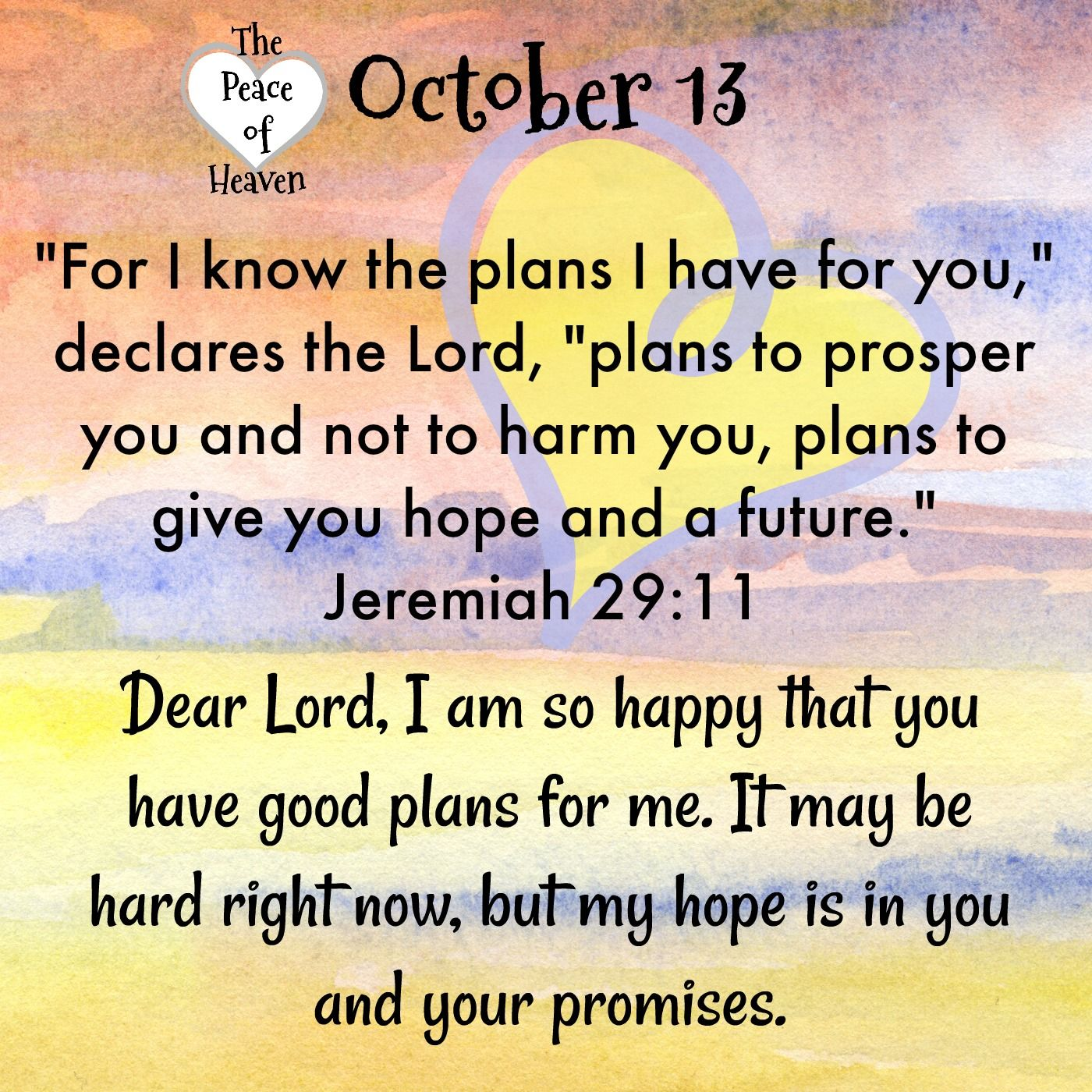 October 13 Peace Daily Devotional Monthly Quotes