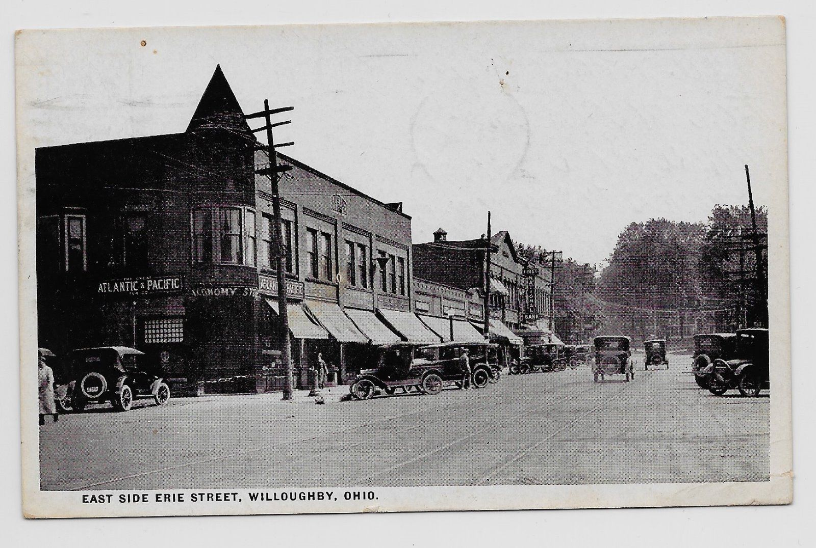 Willoughby Ohio East Side Of Erie Steet 1929 A P Grocery Store 1jh26