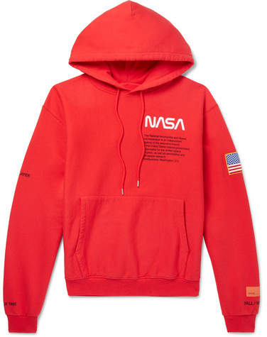 72f5d4b0dec8f Heron Preston + Nasa Embroidered Printed Cotton-Jersey Hoodie