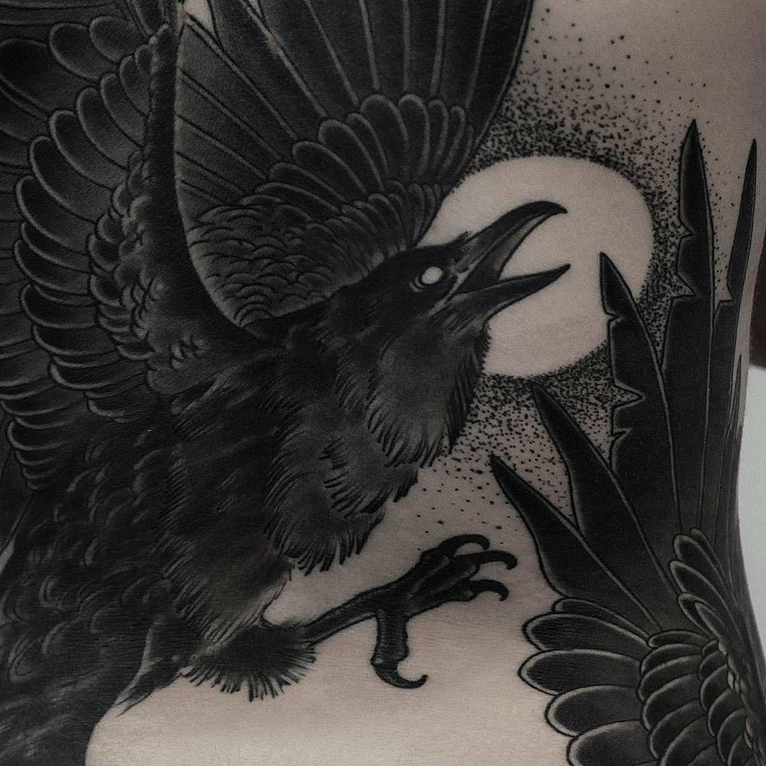Картинки татуировок воронов