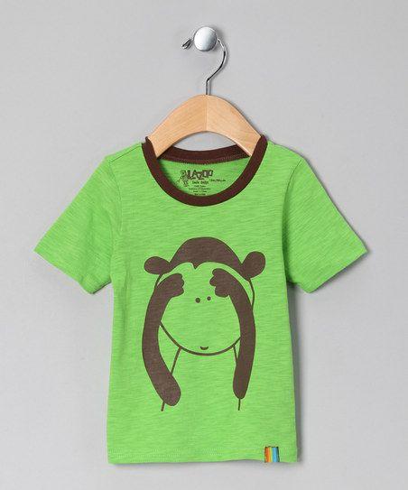 Green Monkey Tee by Lazoo