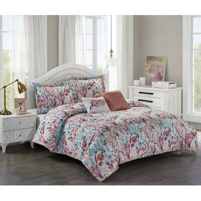 Bayou Breeze Aadhya Reversible Comforter Set Size Full Queen