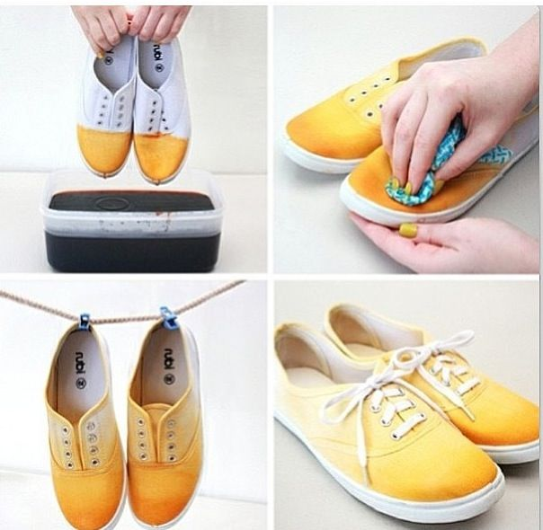 fe82b9f8bff7 Dye your shoes! You do it with Fabric Dye  )