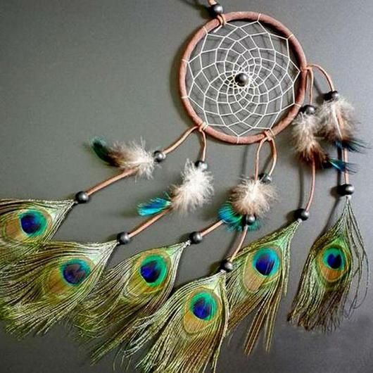 Dream Catcher Materials Dream Catcher With Feathers  Dream Catchers Catcher And Peacock