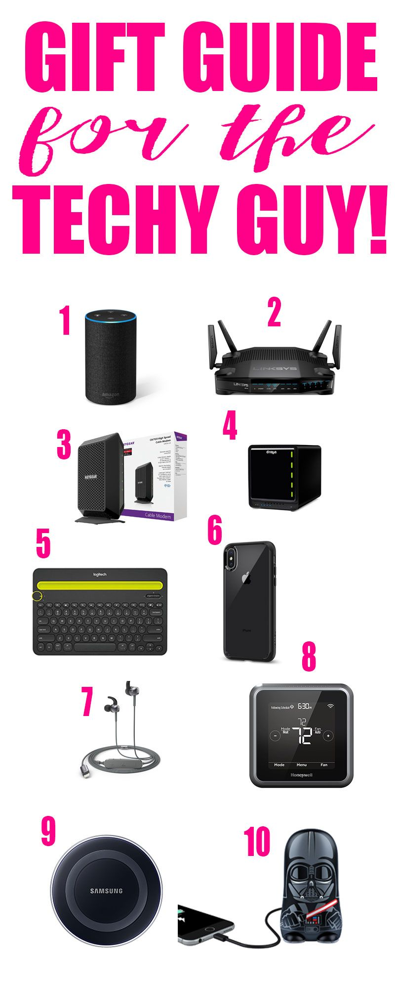 Gift Guide For The Techy Guy Gifts For Techies Electronic Gifts For Men Boyfriend Gifts
